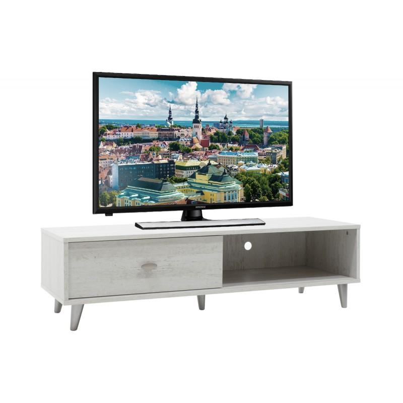 """Έπιπλο τηλεόρασης """"FIRENZE"""" σε χρώμα γκρι-λευκό 120,5x41x33"""