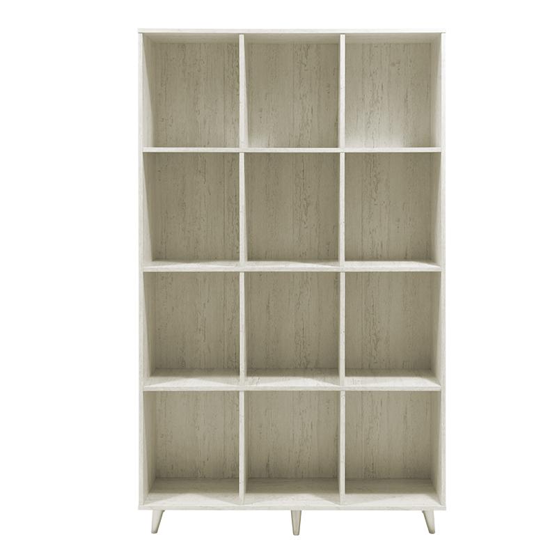 "Bιβλιοθήκη ""FIRENZE"" σε χρώμα γκρι - λευκό 107x28,6x178"