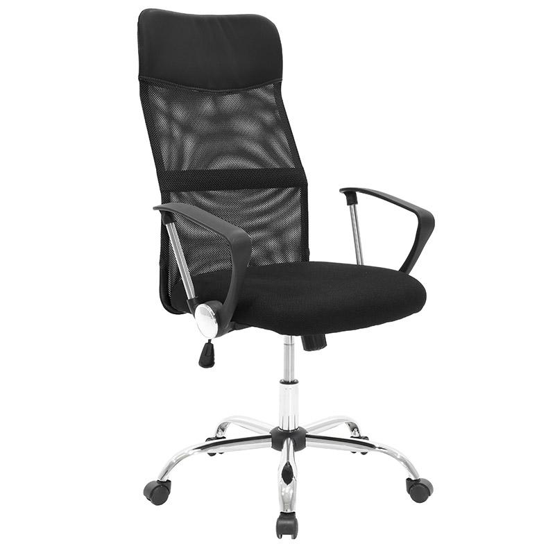 """Πολυθρόνα διευθυντή """"JOEL"""" από ύφασμα mesh σε χρώμα μαύρο 64x63x110/120"""