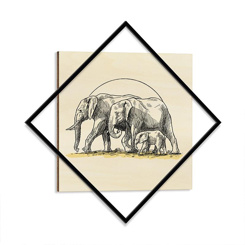 """Διακοσμητικός πίνακας """"WISDOM"""" με μεταλλικό πλαίσιο 72x1,3x72"""