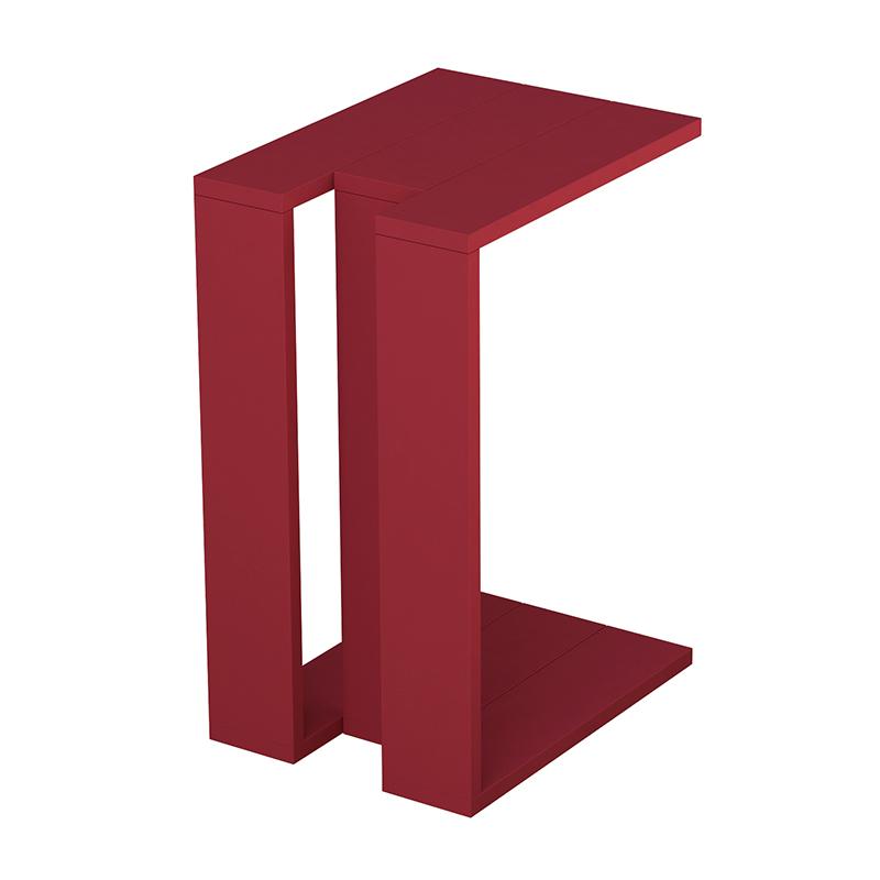 """Βοηθητικό τραπεζάκι """"MUJU"""" σε χρώμα σκούρο κόκκινο 40x30x57"""