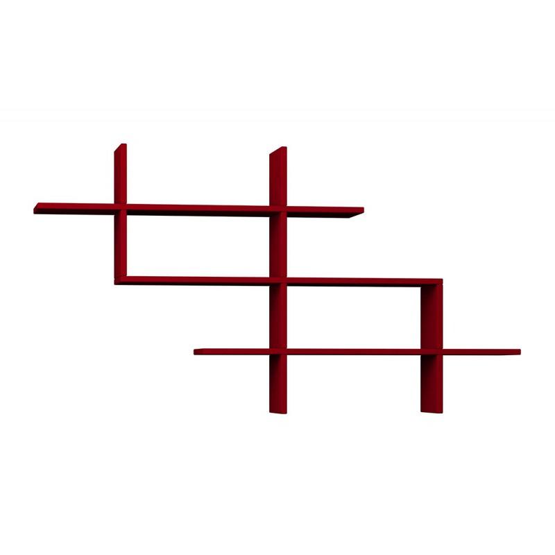 """Ραφιέρα τοίχου-βιβλιοθήκη """"HALIC"""" σε χρώμα σκούρο κόκκινο 150x22x82"""