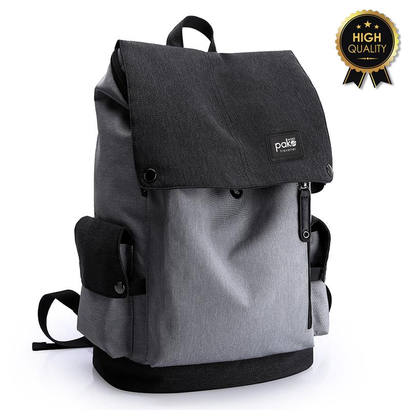 """Σακίδιο πλάτης """"TRV-013"""" γκρι-μαύρο με usb για Laptop 15'' 30x17x45"""