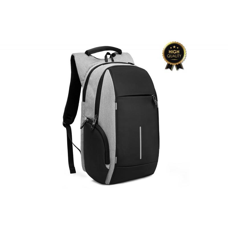 """Σακίδιο πλάτης """"TRV-002"""" γκρι-μαύρο για Laptop 15,6'' 30x13x45"""