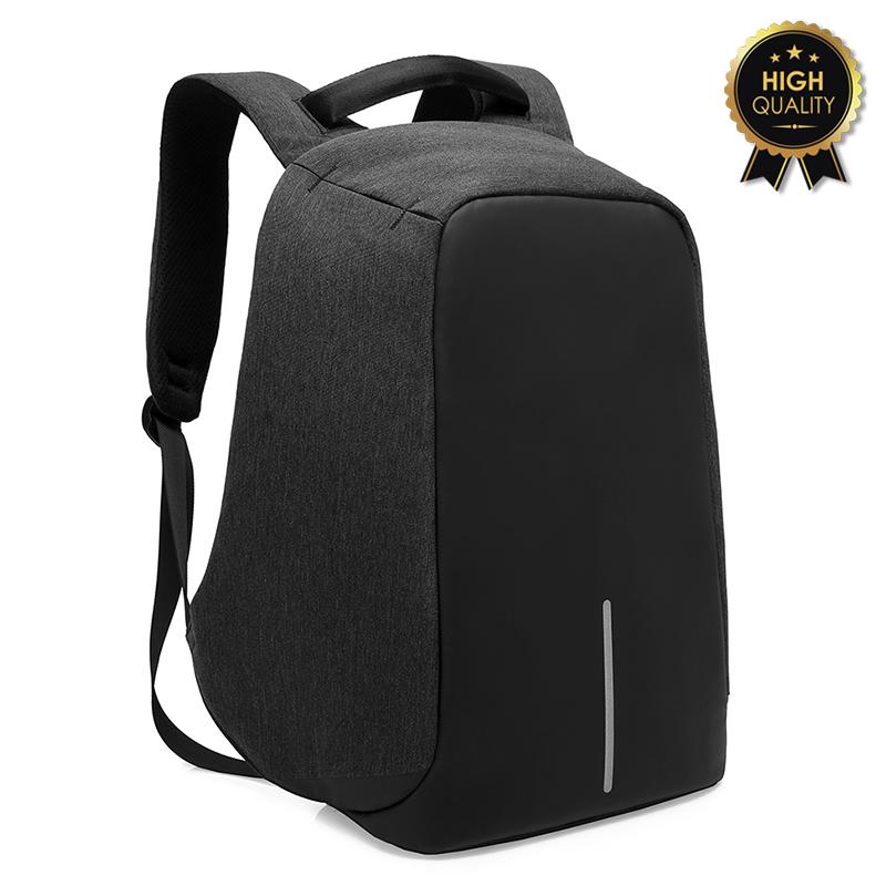 """Σακίδιο πλάτης αντικλεπτικό """"TRV-001"""" γκρι-μαύρο με usb+Laptop 15,6'' 30x13x45"""