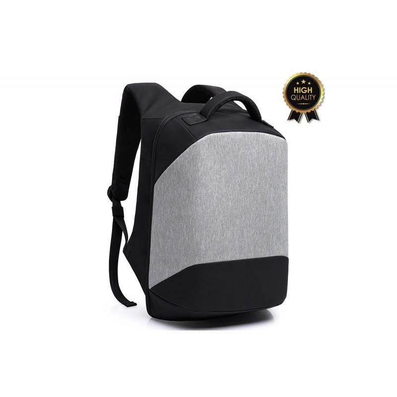 """Σακίδιο πλάτης αντικλεπτικό """"TRV-003"""" γκρι-μαύρο με usb+Laptop 15'' 30x13x45"""