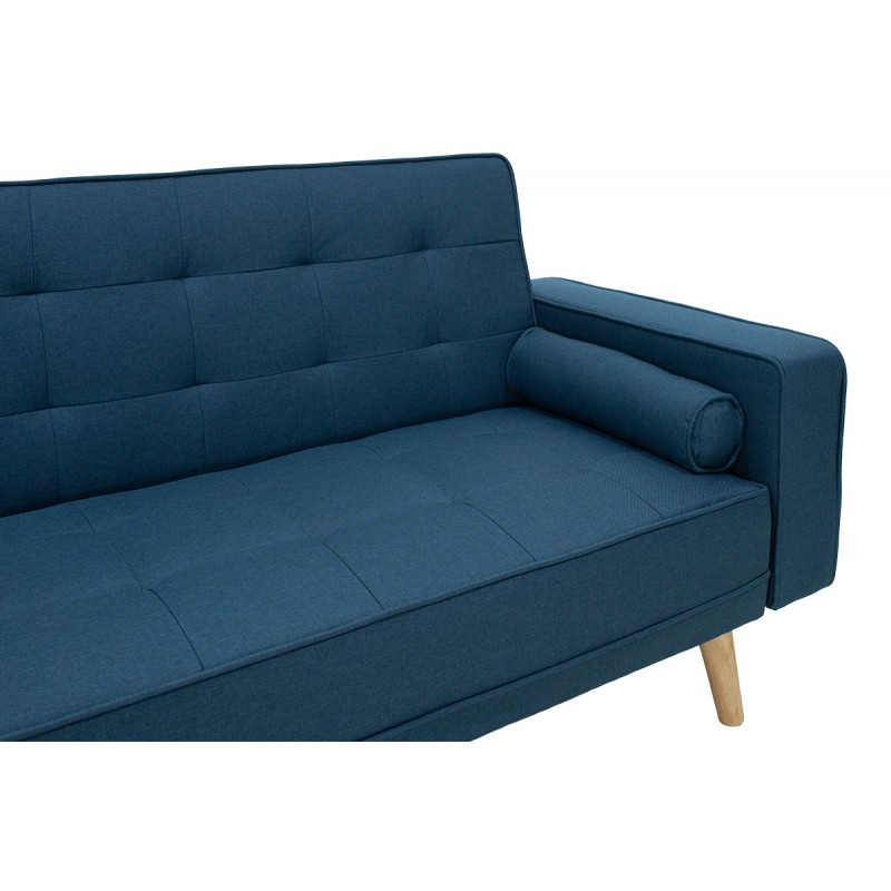 "Kαναπές-κρεβάτι ""LATINA"" με ύφασμα σε χρώμα μπλε 217x75x84"