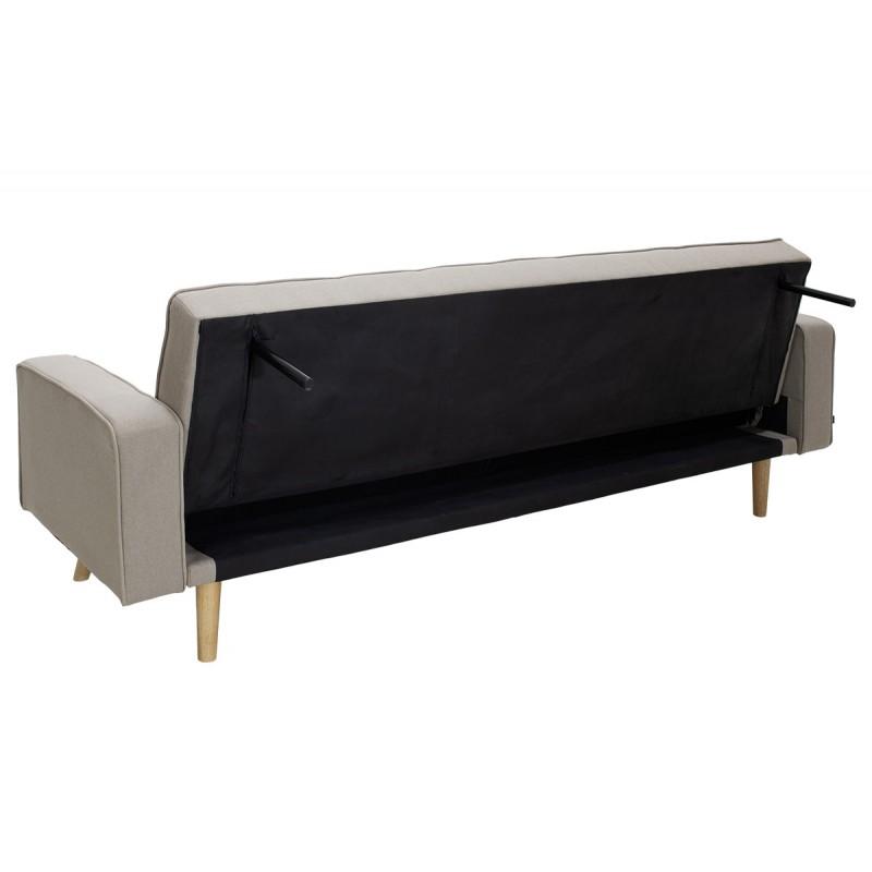 "Kαναπές-κρεβάτι ""LATINA"" με ύφασμα σε χρώμα μπεζ 217x75x84"