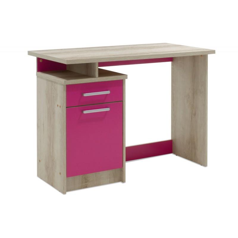 """Γραφείο παιδικό """"LOONEY"""" σε χρώμα castillo-ροζ 100x55x75"""