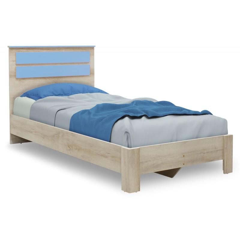 """Κρεβάτι παιδικό """"LOONEY"""" μονό σε χρώμα castillo-μπλε 204,5x107x102"""