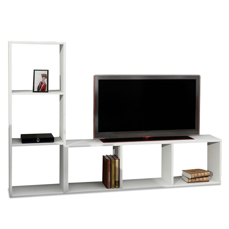Έπιπλο τηλεόρασης σε χρώμα λευκό 123x29,5x90