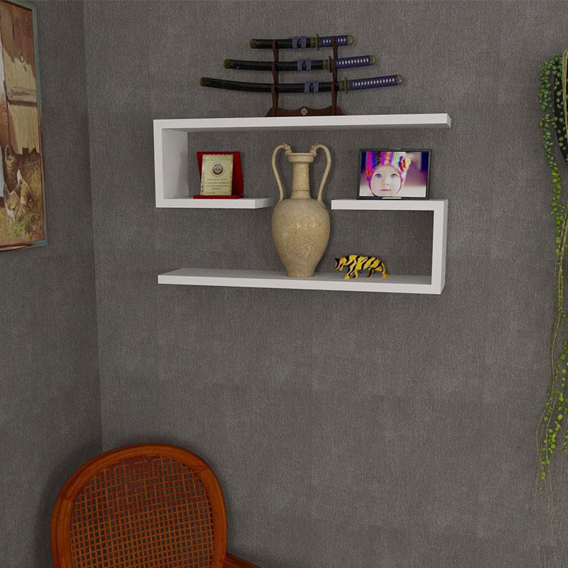 Ραφιέρα τοίχου 2 τμχ σε χρώμα λευκό 60x14,5x18