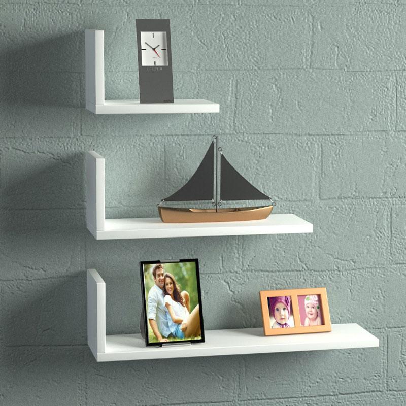 Ραφιέρα τοίχου 3 τμχ σε χρώμα 60x14,5x66,5