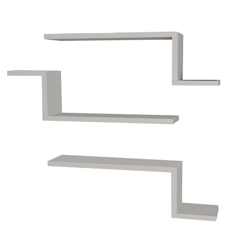 Ραφιέρα τοίχου 3 τμχ σε χρώμα λευκό 58x14,5x18