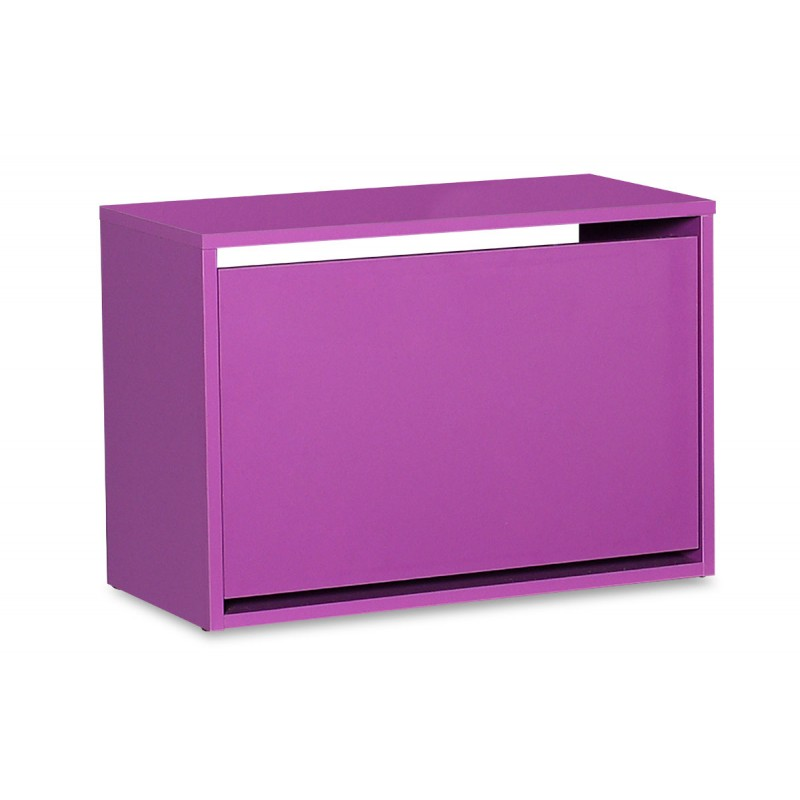 Παπουτσοθήκη ανακλινόμενη σε χρώμα μωβ 60x30x42