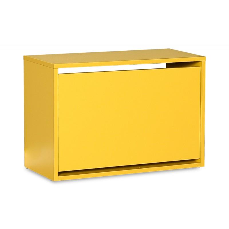 Παπουτσοθήκη ανακλινόμενη σε χρώμα κίτρινο 60x30x42