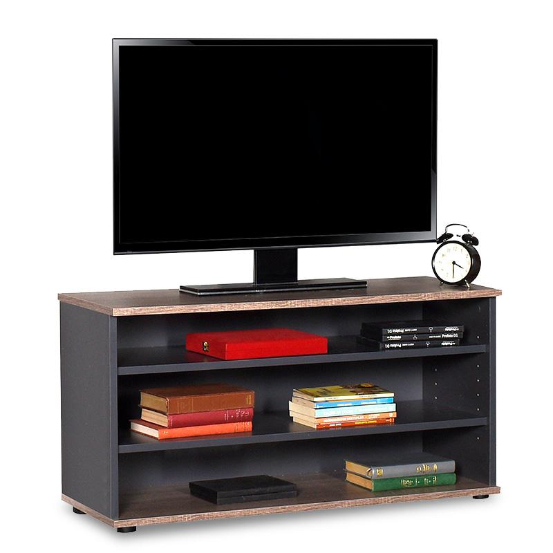 """Έπιπλο τηλεόρασης """"FLAT LINE"""" σε χρώμα ανθρακί-λάττε 90x35x48"""