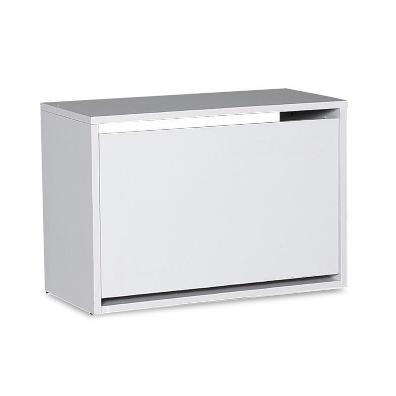 Παπουτσοθήκη ανακλινόμενη σε χρώμα λευκό 60x30x42