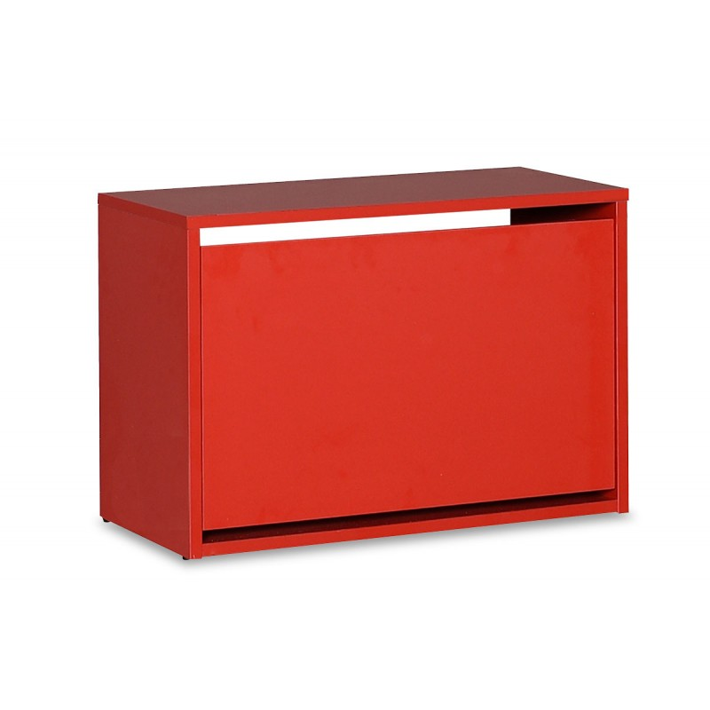 Παπουτσοθήκη ανακλινόμενη σε χρώμα κόκκινο 60x30x42