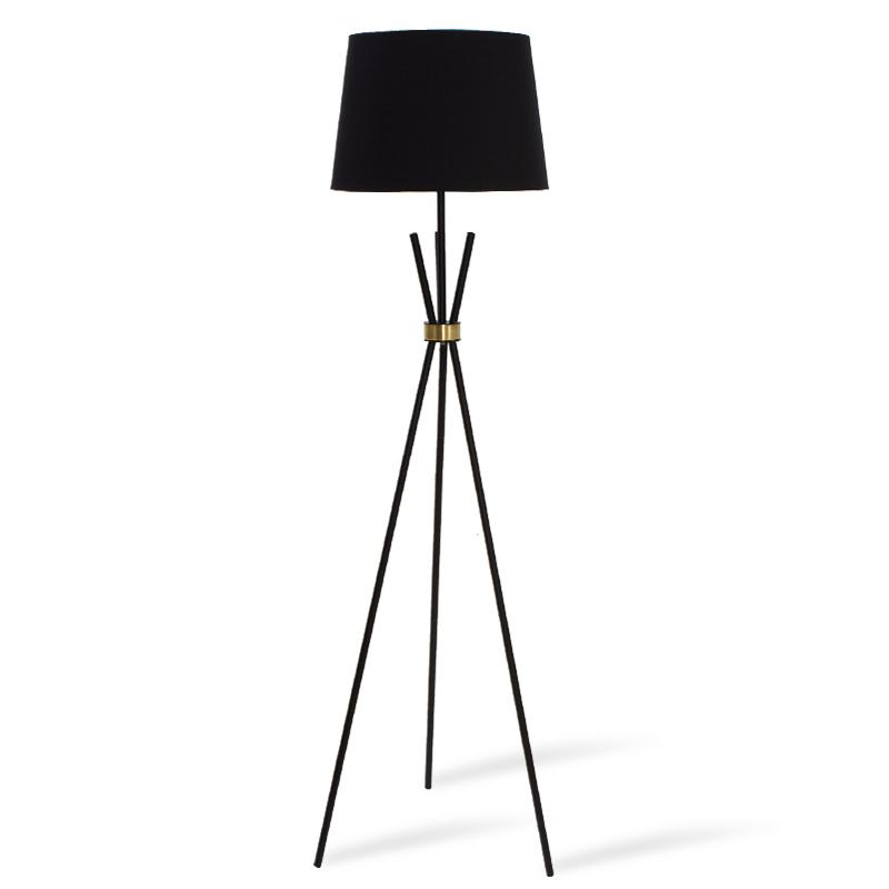 Φωτιστικό δαπέδου μεταλλικό σε μαύρο ματ-μπρονζέ χρώμα Φ33-38x161