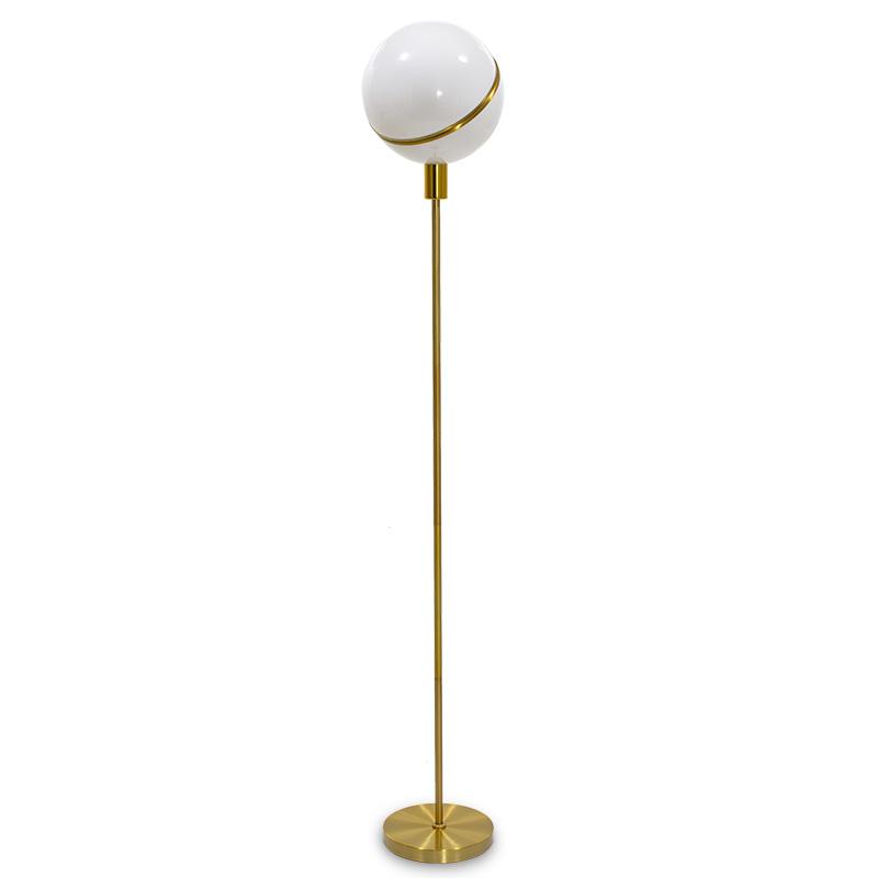 """Μεταλλικό φωτιστικό δαπέδου """"PWL-0023"""" ακρυλικό λευκό-χρυσό χρώμα 28x28x158"""