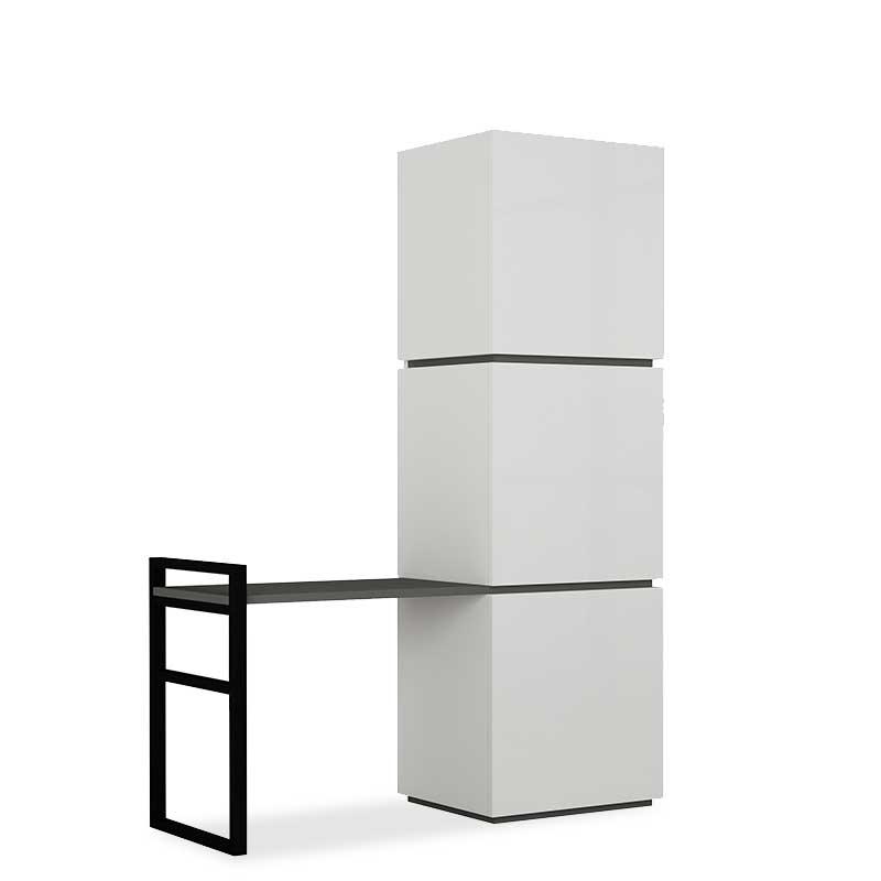 Έπιπλο εισόδου-Πορτ Μαντώ Mello χρώμα λευκό-ανθρακί 109x39x149εκ