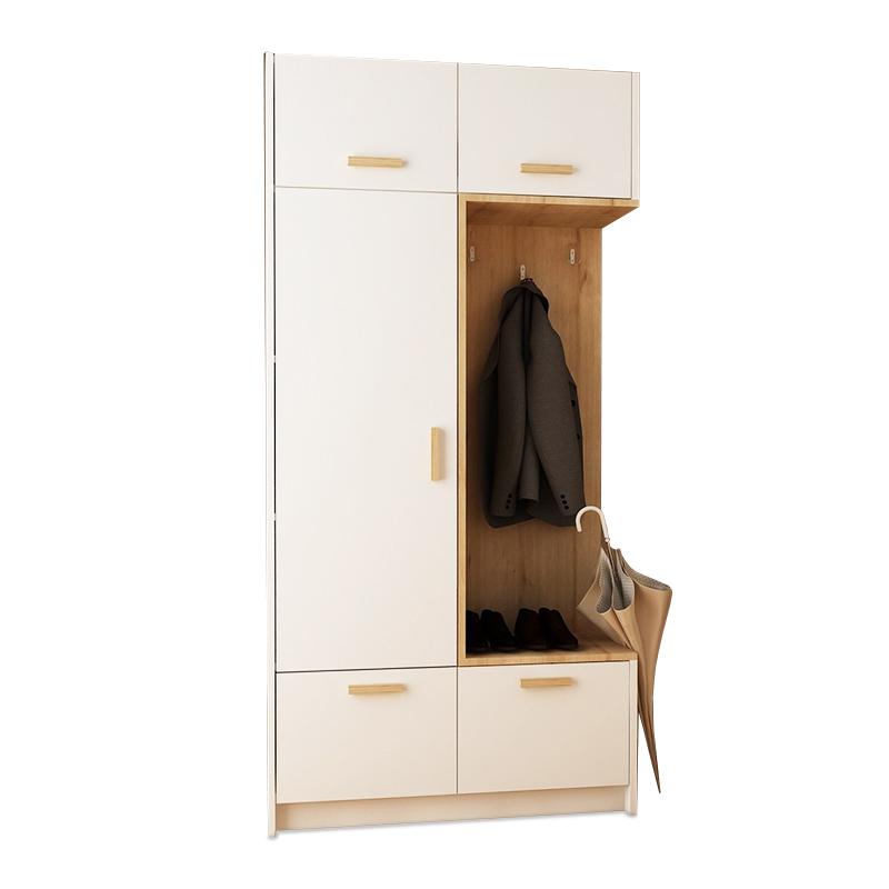 """Έπιπλο εισόδου """"RION"""" σε χρώμα φυσικό/λευκό 93x30x188"""