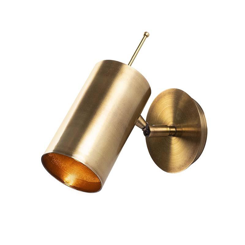 Φωτιστικό τοίχου-απλίκα μεταλλική σε χρώμα χρυσό 22x9x23