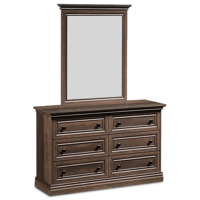 """Τουαλέτα-συρταριέρα με καθρέπτη """"MOZART"""" σε χρώμα καρυδί 121x40x172"""