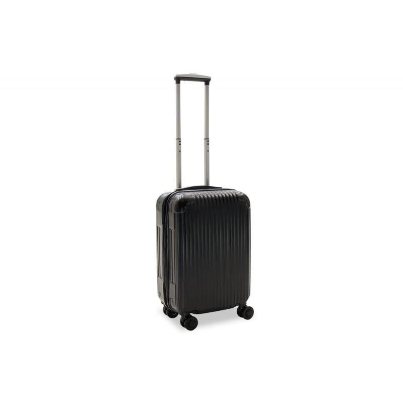 """Βαλίτσα καμπίνας """"LIDO"""" με σκληρό περίβλημα σε χρώμα μαύρο 35x23x56"""