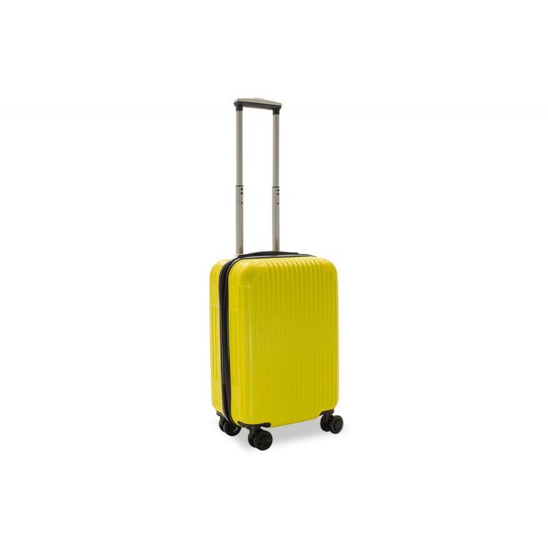 """Βαλίτσα καμπίνας """"LIDO"""" με σκληρό περίβλημα σε χρώμα κίτρινο 35x23x56"""