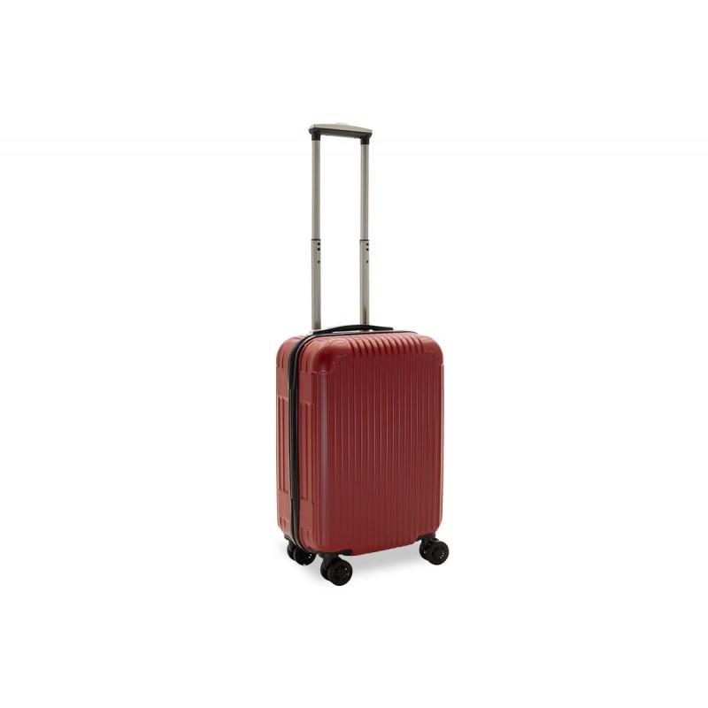 """Βαλίτσα καμπίνας """"LIDO"""" με σκληρό περίβλημα σε χρώμα κόκκινο 35x23x56"""