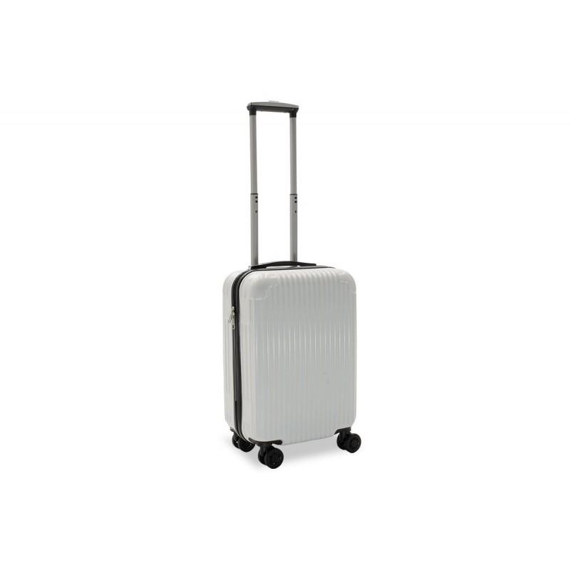 """Βαλίτσα καμπίνας """"LIDO"""" με σκληρό περίβλημα σε χρώμα λευκό 35x23x56"""
