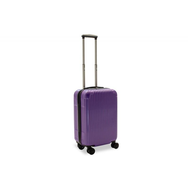 """Βαλίτσα καμπίνας """"LIDO"""" με σκληρό περίβλημα σε χρώμα μωβ 35x23x56"""