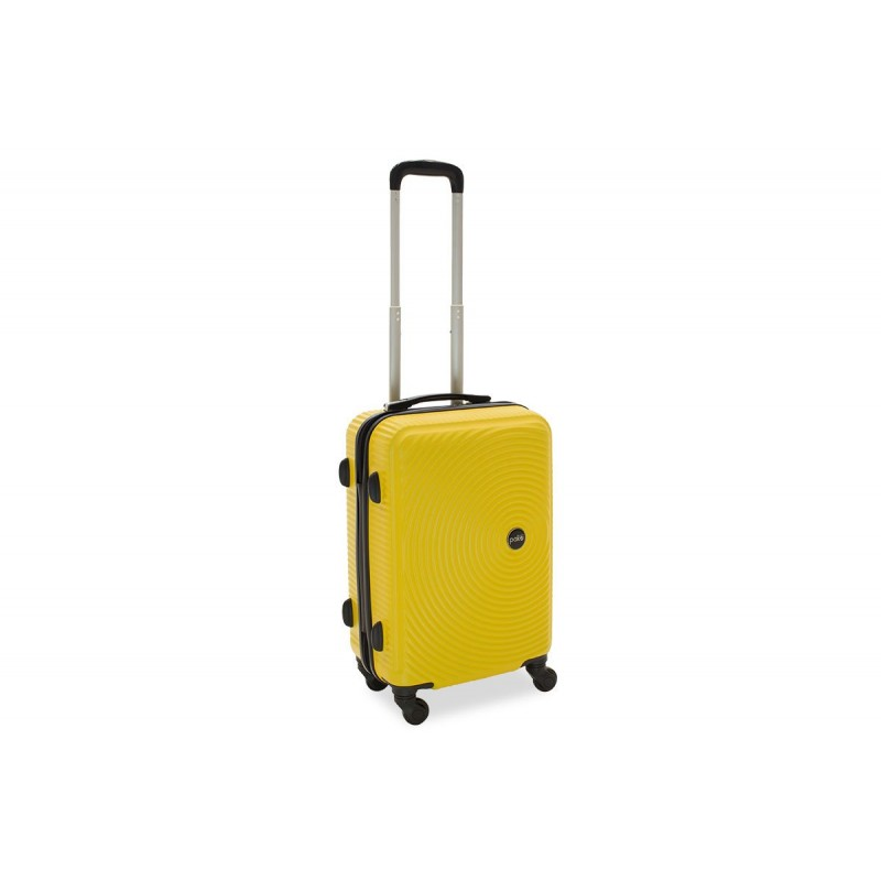 """Βαλίτσα καμπίνας """"POLAR"""" με σκληρό περίβλημα σε χρώμα κίτρινο 38x22,5x57"""
