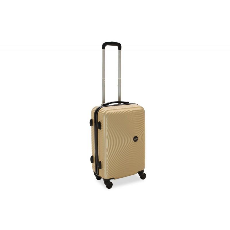 """Βαλίτσα καμπίνας """"POLAR"""" με σκληρό περίβλημα σε χρώμα σαμπανιζέ 38x22,5x57"""
