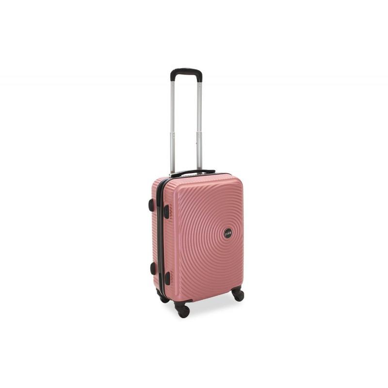"""Βαλίτσα καμπίνας """"POLAR"""" με σκληρό περίβλημα σε χρώμα ροζ 38x22,5x57"""