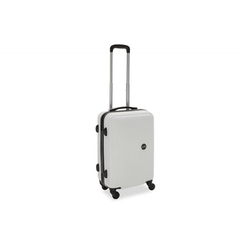 """Βαλίτσα καμπίνας """"POLAR"""" με σκληρό περίβλημα σε χρώμα λευκό 38x22,5x57"""