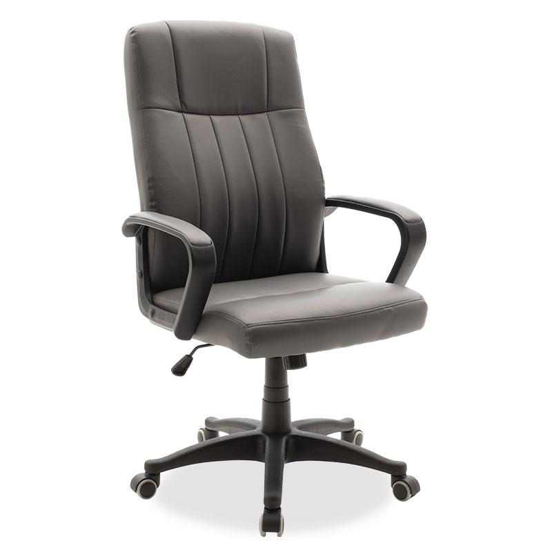"""Καρέκλα γραφείου διευθυντή """"RODY"""" με pu σε χρώμα ανθρακί 62x69x102/110"""