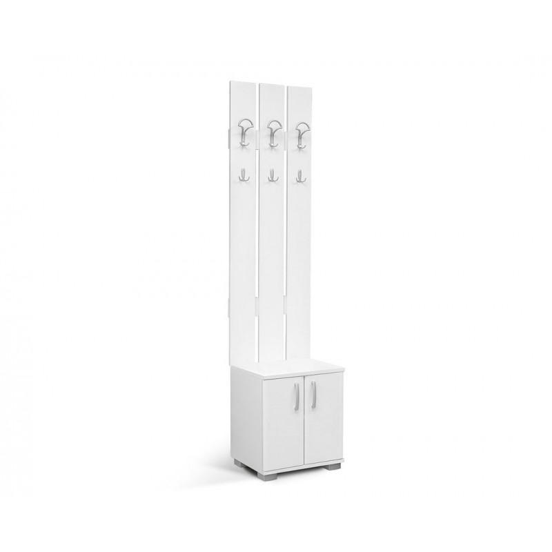 """Έπιπλο εισόδου """"APOLON PA-2"""" σε χρώμα λευκό 50x37x209"""