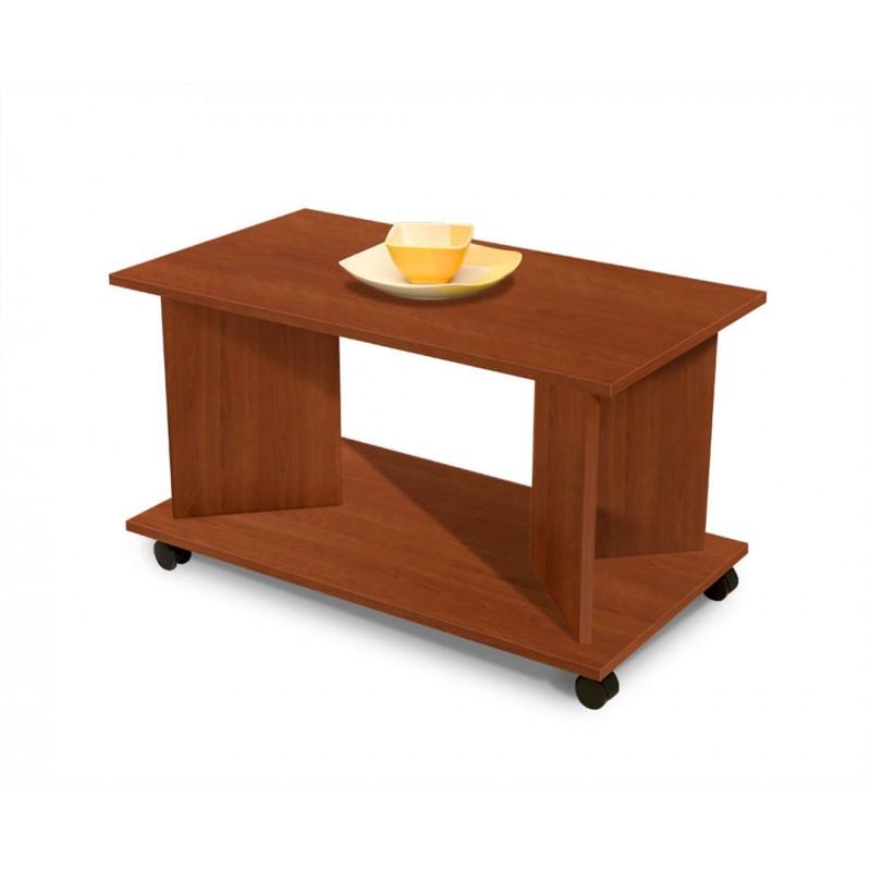 """Τραπέζι σαλονιού """"HERMES"""" τροχήλατο σε χρώμα κερασί 90x50x50"""