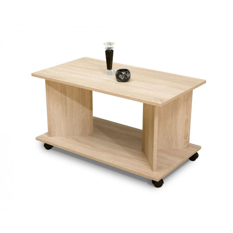 """Τραπέζι σαλονιού """"HERMES"""" τροχήλατο σε χρώμα δρυς 90x50x50"""