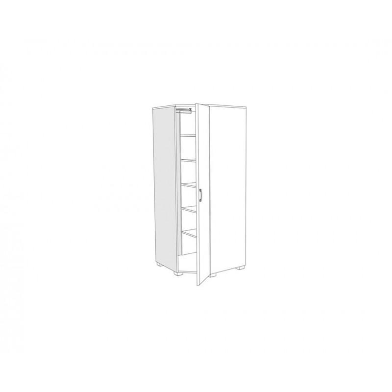 """Γωνιακή ντουλάπα """"MILANO UGAO"""" σε χρώμα tobacco 85/57x85/57x205"""