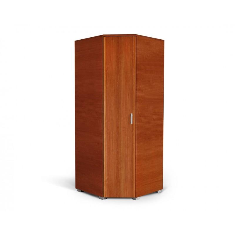 """Γωνιακή ντουλάπα """"MILANO UGAO"""" σε χρώμα κερασί 85/57x85/57x205"""
