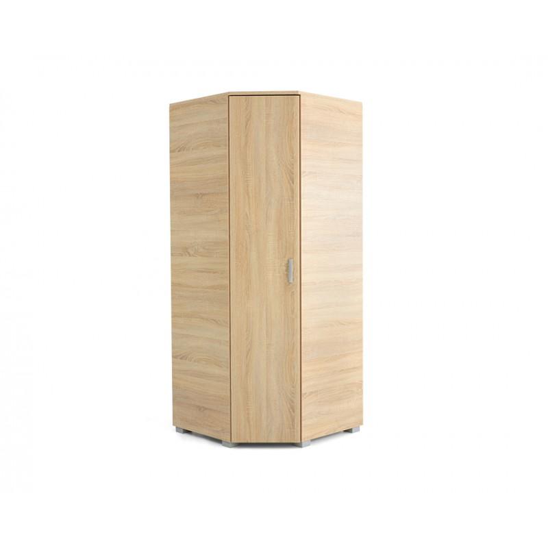 """Γωνιακή ντουλάπα """"MILANO UGAO"""" σε χρώμα δρυς 85/57x85/57x205"""