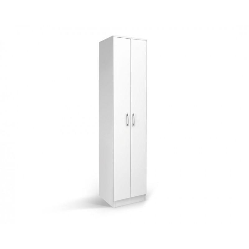 """Ντουλάπα """"FORTUNA SOFT F1"""" μονόφυλλη σε χρώμα λευκό 50x52x222"""