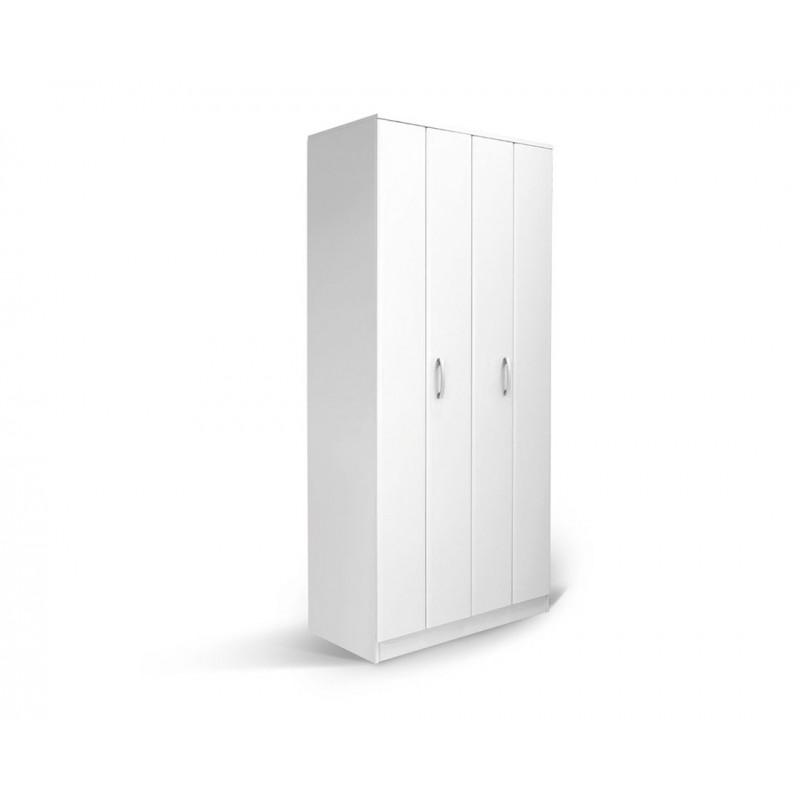 """Ντουλάπα """"FORTUNA"""" δίφυλλη σε χρώμα λευκό 100x52x222"""