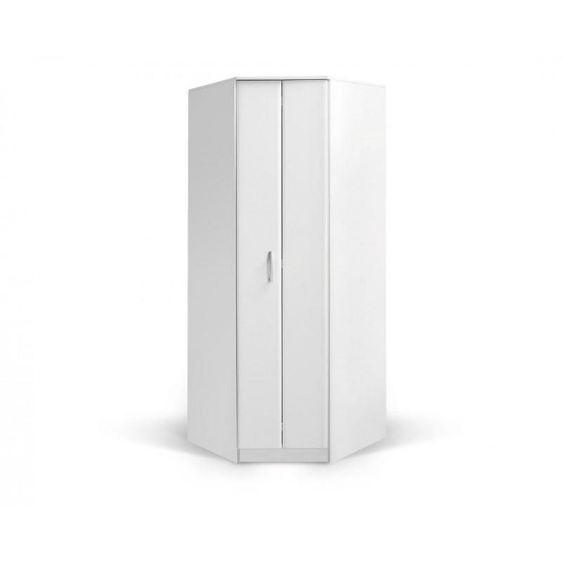 """Γωνιακή ντουλάπα """"FORTUNA"""" σε χρώμα λευκό 88/52x87/52x222"""
