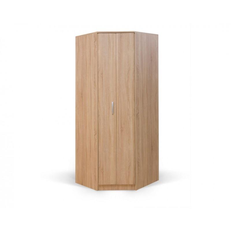 """Γωνιακή ντουλάπα """"FORTUNA"""" σε χρώμα δρυς 88/52x87/52x222"""