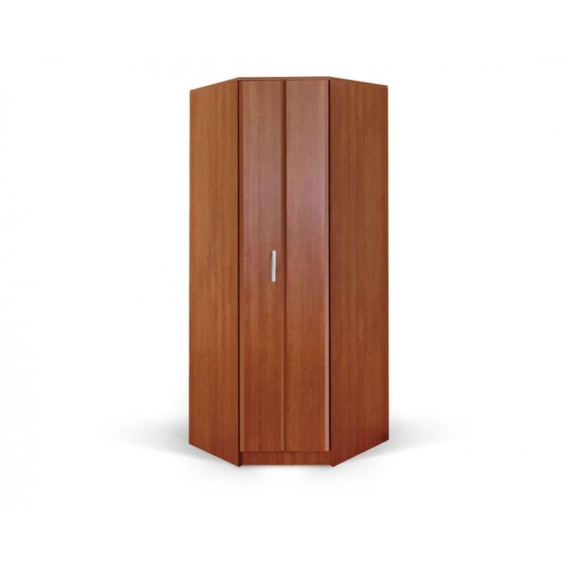 """Γωνιακή ντουλάπα """"FORTUNA"""" σε χρώμα κερασί 88/52x87/52x222"""